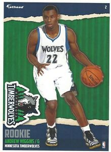 ANDREW WIGGINS FATHEAD TRADEABLES MINNESOTA T-WOLVES RC JAYHAWKS DECAL 2014-15 2