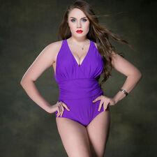New Women Ladies One Piece Swimwear Bathing Suit AU Size 14 16 18 20 22 #5077