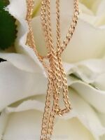 "NEW 14ct 14K Rose Gold GF CURB LINK Chain Necklace 48cm 20"" - Add locket pendant"