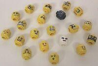 Lego® 20 Köpfe für Figuren Minifig new unbespielt