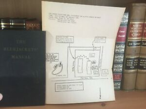 The Bluejackets Manual 14th edition united states naval institute 1950 hc + MAP