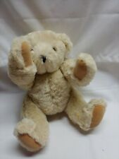 Vermont authentic teddy bear stuffed plush jointed light beige 15""