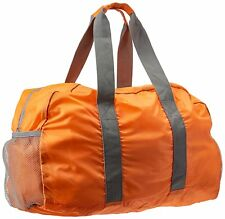 Collapsible Duffel Bag Water Resistant Zipper Pocket Mesh Pockets ORANGE COLOR
