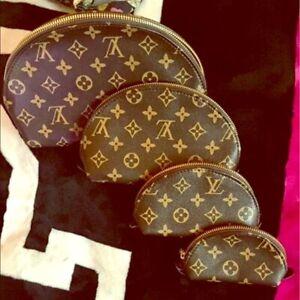 4Pcs/set women cosmetic bags famous makeup bag designer travel free shipping
