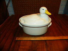 Vintage HALL CHINA Duck Covered Casserole Baker Dish