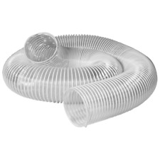 3 In X 10 Ft Pvc Flexible Dust Collection Hose Clear For Shop Dust Collector