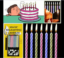 10pk Magic Trick Relighting Candles Brthday Cake Candle Party Novelty Joke Kids