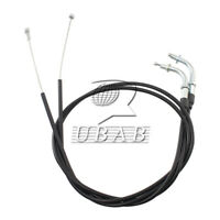 Black 110CM Throttle Cable Wire Set For Harley-Davidson Sportster XL1200 XL883