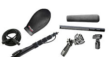 Sennheiser 416 w/ K-Tek 110CCR Boompole, Rycote Super Softie, Pistol Grip, Cable