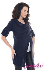 Purpless Maternity 2 in 1 Pregnancy and Nursing Sweater Cardigan Coat B9005