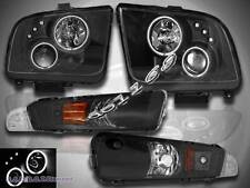 2005 06 07 08 09 FORD MUSTANG CCFL TWIN HALO PROJECTOR HEADLIGHTS +BUMPER LIGHTS