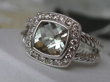 DAVID YURMAN , SS ALBION PETITE SAGE PRASIOLITE DIAMOND ICE RING