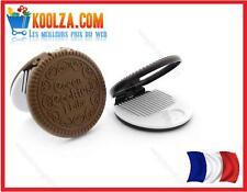 MIROIR de poche + peigne forme Oreo biscuit au CHOCOLAT COOKIE Gâteau cute miror