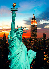 3D Lenticular Postcard -The Statue of Liberty and New York City skyline
