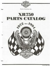 1972-1994 Harley XR750 Factory Parts Manual COPY 36 pg