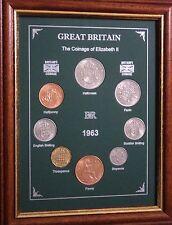 Encadré 1963 pour pièces de monnaie année Set (Rétro 55th Cadeau Anniversaire De Mariage Cadeau)