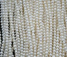 AA++ Wholesale 10 strands 3.5-4mm white genuine freshwater pearl free shipping