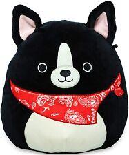 Squishmallows Black Dog with Red Bandana Border Collie Plush Super Soft 8 inch