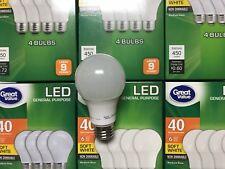 24 Pack LED 40W = 5W Soft White 60 Watt Equivalent Encl Light Fixtures A19 2700K