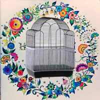 Nylon Airy Fabric Mesh Bird Cage Cover Shell Skirt Seed Catcher Guard Cleaning