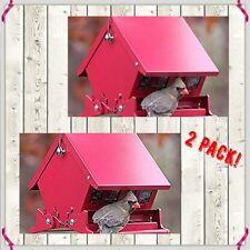 Audubon Mini Absolute Ii Squirrel Proof Hopper Bird Feeder 2 Pack! Holds 4 # Ea.