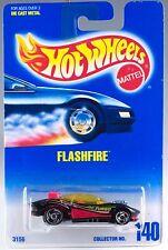 Hot Wheels No. 140 Flashfire Black w/SB's MOC 1996