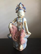 Fine Old Antique Chinese Porcelain Buddha Kwan Yin Amida God Statue Sculpture