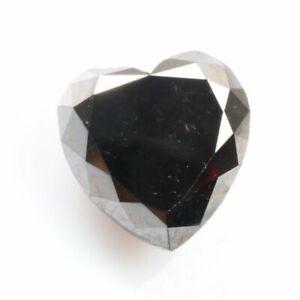 Heart Diamond Rustic Diamond 2.53TCW Black Diamond Gemstone Diamond Natural Diamond Fancy Diamond Real Diamond Rose cut Diamond for Gift
