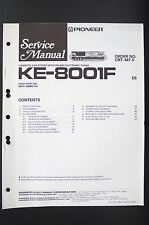 PIONEER KE-8001F Car Cassette FM/AM Tuner Service-Manual/Schaltplan/Diagram o82