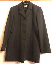 Viyella Ladies Lined Wool Suit Skirt & Jacket Grey Size 12 in VGC