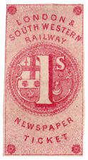 (i. b) Londres & South Western Railway: periódico billete 1/- a prueba de ()