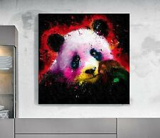 XXL bild-popart 100x100x5 CUADRO Panda de Colores Lienzo Lona IKEA Loft Designe