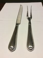 """Reed & Barton Stainless Steel """"Domain"""" Carving Knife & Fork Set"""