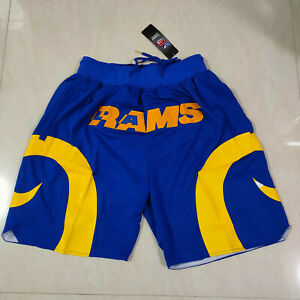NEW Los Angeles RAMS Blue Men's with Pockets Shorts Size: S-XXL