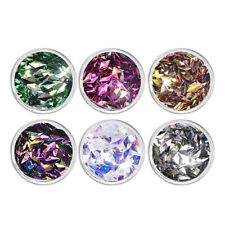 6 Jars 6 Colors Nail Art 3D Rhombus Glitter Sequins Kit Set Cellphone Decors