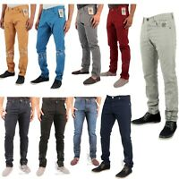 Enzo Designer Mens Skinny Slim Fit Chinos Jeans Straight Leg Chino Trousers Pant
