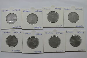 INDIA REPUBLIC 2 RUPEES COLLECTION A99 BX10 - 124