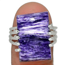 Siberia Charoite 925 Sterling Silver Jewelry Ring s.9 AR165823