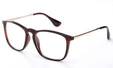 Clear Lens Glasses Office Nerd Frames Designer Retro Eyewear Tortoise Brown