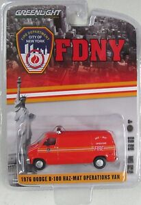 GL FDNY 1976 DODGE B-100 HAZ-MAT OPERATIONS VAN - FIRE DEPT. HOBBY EDITION
