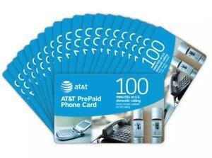 AT&T PrePaid Phone Card 100 Minutes Virtual Card