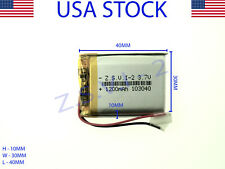 3.7V 1200mAh 103040 Lithium Polymer LiPo Rechargeable Battery (USA STOCK)