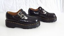 Dr. Martens 8305 Mary Jane Platforms Double Strap Black Leather Women's Size 4