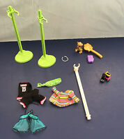 monster high doll accessories lot brush clothing stand dog boy clothes