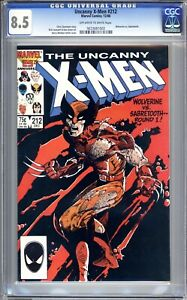 Uncanny X-Men #212 - CGC Graded 8.5 (VF+) 1986 - Sabretooth