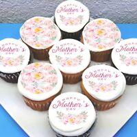 """Mothers Day Edible Icing Cupcake Toppers - 2"""" - PRE-CUT - Sheet of 15"""