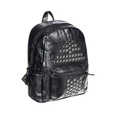 Blue Banana  Studded Triangle Black Backpack, Ladies Gothic Faux Leather Bag