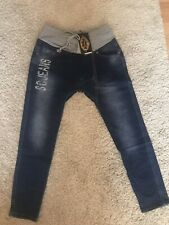 Sexy Women's Buggy Jeans Denim Blue Size S-UK 8-EUR 36