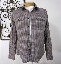Micheal Kors Men's Long Sleeve Cotton Dress Shirt Size M Medium Brown