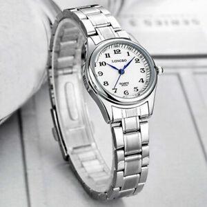 Womens Elegant Lady Watches Waterproof Stainless Steel Analog Quartz Wrist Watch